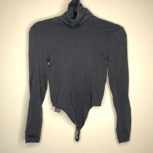 Wolford London Black Turtleneck Thong Bodysuit S